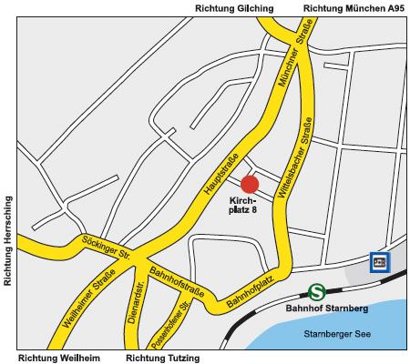 Übersichtsplan Starnberg Seminarzentrum Marianne Wiendl